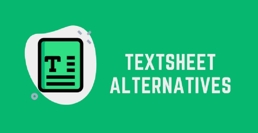 10 Best Alternative Websites To Textsheet